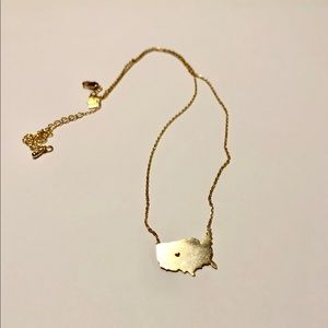"""Gold """"Home"""" necklace"""